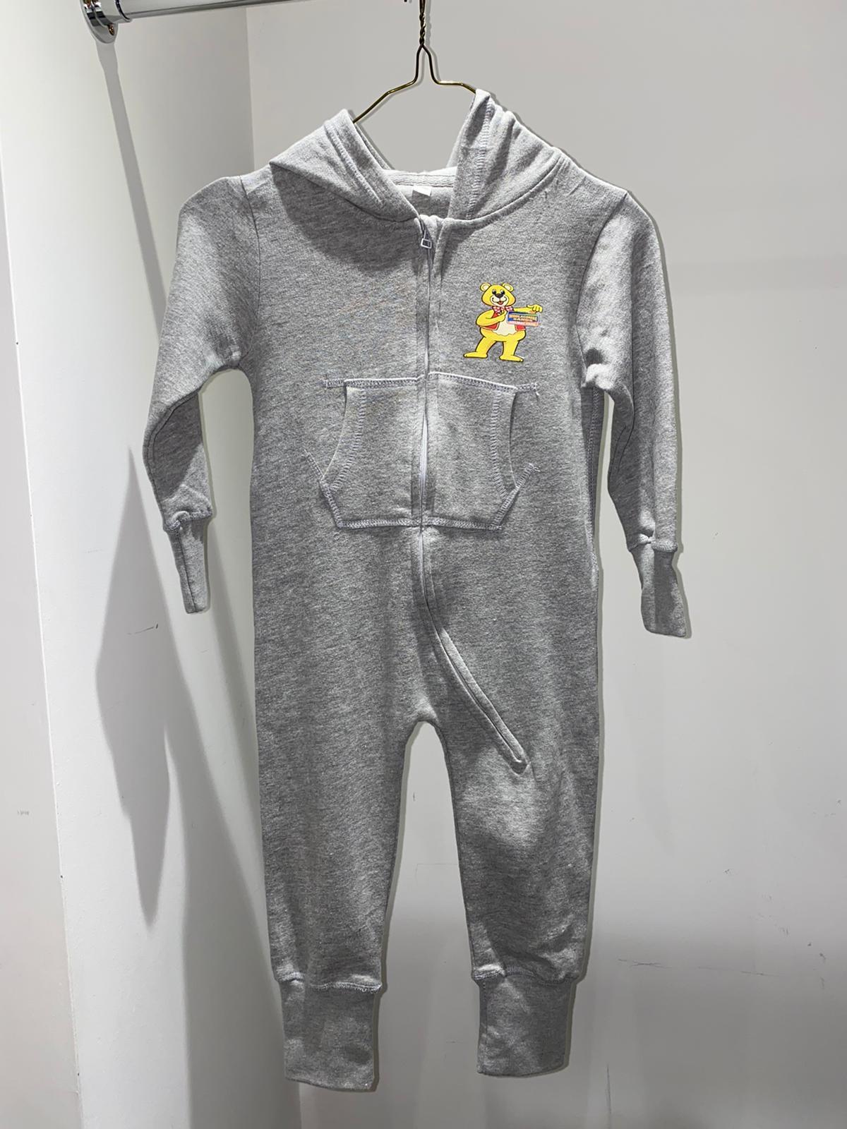 Kids Grey Woolly Bear Onesie